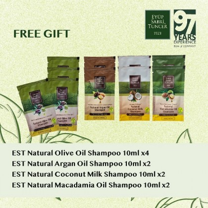 Eyup Sabri Tuncer Natural Olive Oil Shampoo & Conditioner Set 600ml (+ FREE Gift)