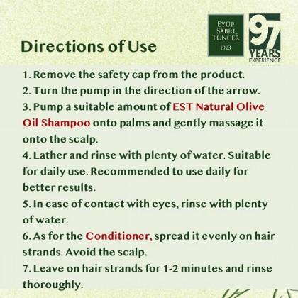 Eyup Sabri Tuncer Natural Olive Oil Shampoo & Conditioner Set 600ml (+ FREE Gift)