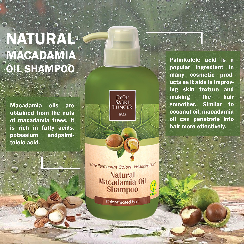 Eyup Sabri Tuncer Natural Macadamia Oil Shampoo 600ml