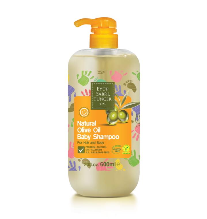 Eyup Sabri Tuncer Natural Olive Oil Baby Shampoo (For Hair and Body) 600ml